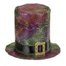 Großhandel Spielwaren:  holographische  Gothic Hut mit Schnalle  - für Anz