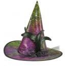 Großhandel Spielwaren:  Holographische  Hexenhut mit  flowerbow, Tüll ...