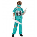 scary surgeon (shirt with bones chest, pants, fa