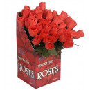 wholesale Decoration: red roses display box of 48 - 44 cm, Hat size: 0