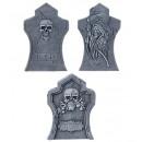 set of 3 ?tombstone? (55 x 36 cm / 51 x 31 cm / 50