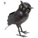 grossiste Cadeaux et papeterie:  black glitter hibou  18,5 cm