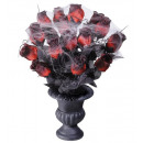 wholesale Flowerpots & Vases: vase with red roses & spiderweb 35 cm, Hat size: