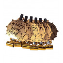 wholesale Toys: set of 6 gold happy new year sounding blow-outs