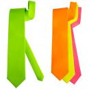 groothandel Accessoires & Onderdelen: satijn  neon  stropdas  4  kleuren ...