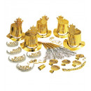 wholesale Toys:  gold buon anno  party kit  for 10 persons (5 top h