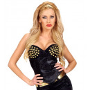 wholesale Erotic Clothing:  black studded  corset  satin, Size: (M) -  for wom