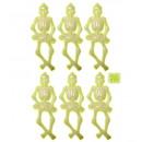 Großhandel Spielwaren: set of 6 glühen in den dunklen skeletten 15 cm-