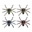 Großhandel Geschenkartikel & Papeterie: Neon Spinnen 7,5 cm - 4 Farben ass. - Set von