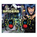 nagyker Ajándékok és papíráruk: Neon pók 10 cm - 2db - gyerekeknek /