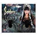 Großhandel Spielwaren: Beflockt Spinnen 10 cm - Set 2 - für Kinder