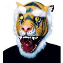Tigre della mascherina con i capelli peluche - p