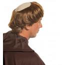 Monnik hoofddeksel met haar - voor mannen