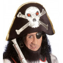 wholesale Toys: velvet pirate hat with maxi skull , Hat size: 58