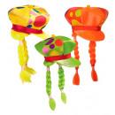 Großhandel Kopfbedeckung:  Maxi neon  gepunktete Mütze  mit Zöpfen  3 ...