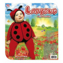 wholesale Headgear:  ladybug  (bonnet & bib) -  for girls