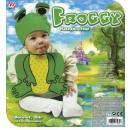wholesale Headgear:  froggy  (bonnet &  bib) - for children / unisex
