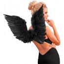 groothandel Speelgoed:  Zwarte gevederde  vleugels  86x31 cm - voor volwas