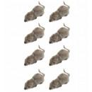 Großhandel Spielwaren: Satz von 8 strömten Mäuse 5 cm