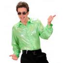 grossiste Jouets: Chemise en tissu holographique vert , Taille: (XL