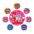 wholesale Costumes: set of 8 bachelorette party pins , Hat size: 0 -