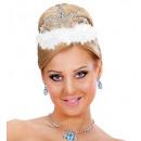 Großhandel Spielwaren: Tiara mit weißen Marabu - für Mädchen