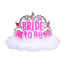 wholesale Gifts & Stationery:  bride to be tiara  with hot pink gems & white mara