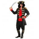 Pirata negro / capitán  (abrigo, sombrero), Tamañ