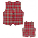 red tartan vest , Size: (M), Hat size: 0 - for m