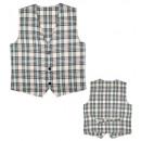 beige tartan vest , Size: (M), Hat size: 0 - for