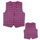 pink tartan vest , Size: (XL), Hat size: 0 - for