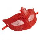 paillettes e pizzo eyemasks rosse - per le donne