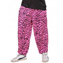 wholesale Trousers:  80's baggy pants  - pink zebra , Size: (XL) -  for