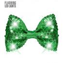 mayorista Electronica de ocio:  Corbata de lazo  de lentejuelas verde intermitente