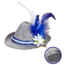 felt  mini  bavarian fedora  with edelweiss & ...