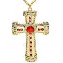 Gold-Kreuz Halskette mit Edelsteinen - für Erwac