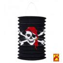 grossiste Cadeaux et papeterie:  crâne pirate et  lanterne à os croisés  ø 16 cm -