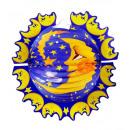 Großhandel Partyartikel: Moon Lampion 33 cm, Hutgröße: 0