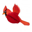 wholesale Greeting cards: honeycomb red cardinal 42 cm