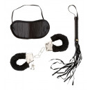 wholesale Stockings & Socks: dominatrix set (hancuffs with plush, blindfold,