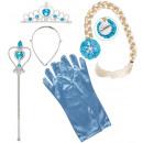 Großhandel Lizenzartikel:  Schnee Princess  set  (Tiara, Zopf, Handschuhe, Ma