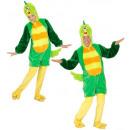 grossiste Jouets: oiseau vert en peluche douce (combinaison à capu