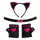 wholesale Toys: hot pink cat set (ears, choker, gloves), Hat siz
