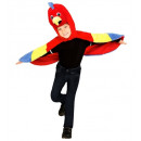 wholesale Toys:  plush parrot   (hooded winged capewith mask), Size