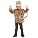 groothandel Speelgoed: Pluche luipaard (hoodie met masker), Afmeting: (