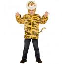 groothandel Speelgoed: Pluche tijger (hoodie met masker), Afmeting: ...