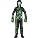 groothandel Speelgoed: giftig skelet (jumpsuit, masker met capuchon), M