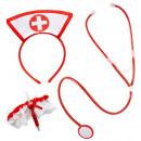 Großhandel Zubehör & Ersatzteile:- Krankenschwester  Set  (Oberteil, Strumpfband mit