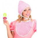 Großhandel Kopfbedeckung:  Baby-Set   (Motorhaube,  Lätzchen, ...