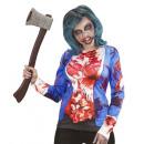 Großhandel Pullover & Sweatshirts: Zombie-Frau (Langarm- T-Shirt ), Größe: (S / M)